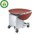 Hotel 5 star equipments double drop leaf metal guest room service cart service trolley