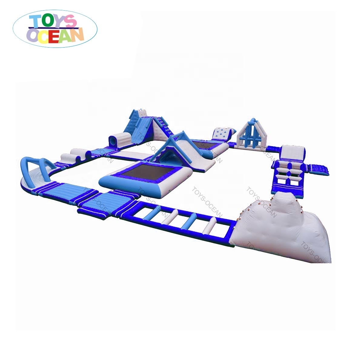 New design 27x29m Inflatable Floating Water Park Obstacle