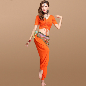 2019 New Spring Summer Suite Adult short-sleeved knickers exercises belly dance skirts for women