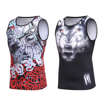 Quick-drying Sublimated Running Gymwear Singlet Men Sleeveless T Shirts
