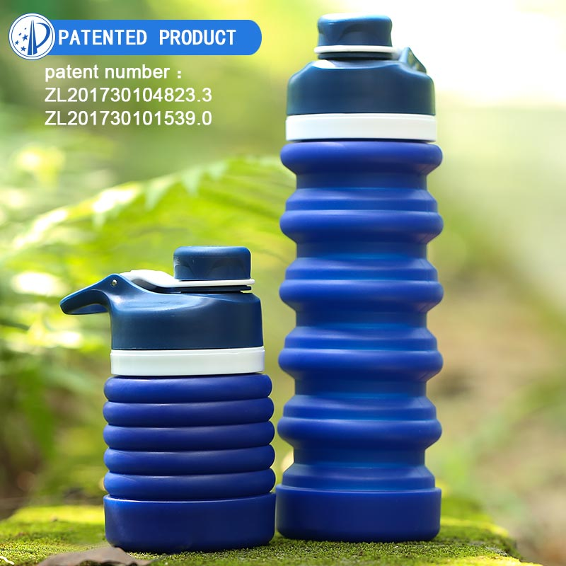 A Traveling Foldable Bpa Free Silicone Drinking Collapsible Sports Water Bottle With Custom Logo фото