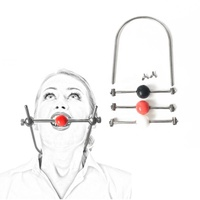 Stainless Steel Ball Open Mouth Ring Gag Sex Bdsm Harness Bondage Restraints