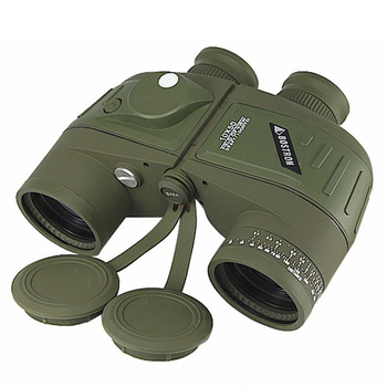 SPINA OPTICS long range telescope professional rangefinder 10x50 binoculars waterproof binocular with compass for adults