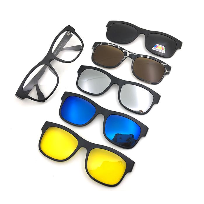 8876fd39a1 Clip de color en gafas con imán gafas stock listo Cambio de logotipo  personalizado 2203