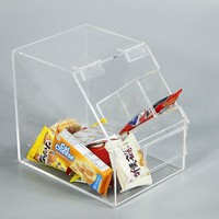 Waterproof Lucite Food Cabinet Clear Acrylic Candy Box / Case