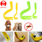 2Pcs Pet Supplies Fleas Lice Twister Tick Remover Tool Hook Tool Remover Plastic Portable Flea Comb Horse Human Pet Cat Dog