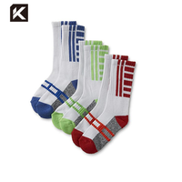 KT3-A024 best bulk discount cool good athletic support workout excel jacquard sports socks manufacturer for sports