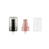 24 410 black Smooth Cosmetic Cream Pump with AS Clear Over Cap