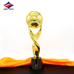 longzhiyu 12years manufacturer custom football cup metal medals and trophies rugby soccer trophies in china
