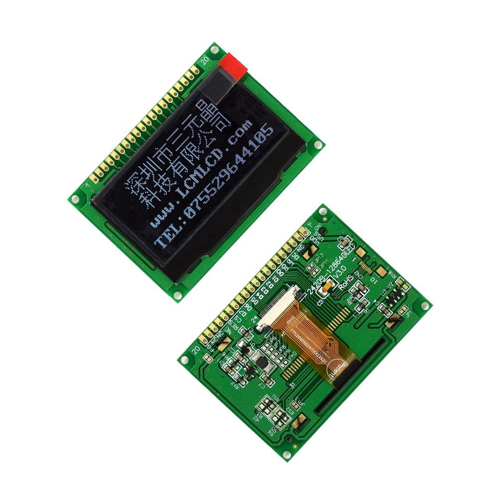 "TCC(128640242)2.42""micro custom oled panel SSD1309 20 pin lcd screen 8-BIT 6800/8080 Parallel SPI/I2C graphic display 128x64"