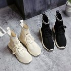 Wholesale High Quality Fashion Breathable Slip-on High Top Sock Shoes Sneakers for Women and Ladies