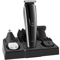 Wholesale built-in rechargeable battery 5 in 1 Men's hair removal kit with nose ear trimmer hair clipper full size trimmer