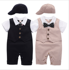 Baby Clothing Autumn Short-Sleeved Gentleman Jumpsuit Baby Boy Newborn Clothes Children Crawling Suit