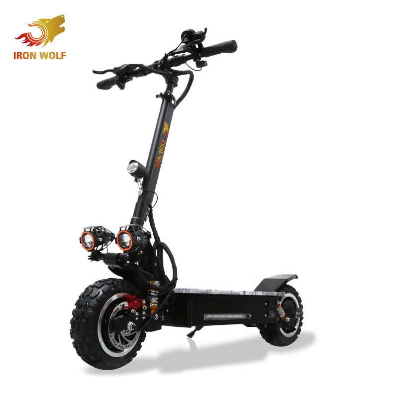 China OEM new adult foldable dual motor off road electric scooter, Black or custom