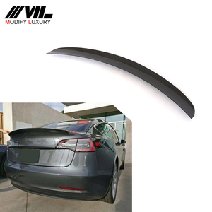 MODEL 3 T Style Carbon Fiber Rear Trunk Spoiler for Tesla Model 3 2016-2018