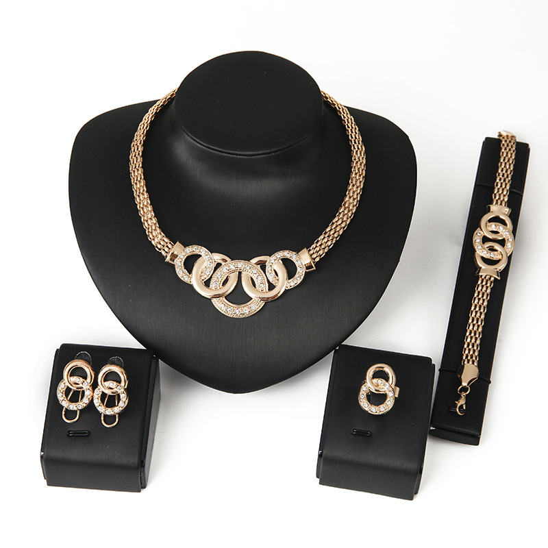 Ensemble de Bijoux de mode, Bijoux En Or, Bijoux En Or 18 k NS94131