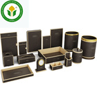 Dark brown hotel leather supplies leather amenities set leather accessories