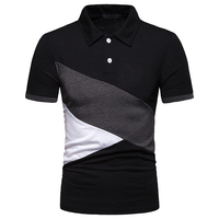 2019 Men Polo T Shirts 100% Cotton Short Sleeve Slim Fit T Shirt Bulk Black Wholesale