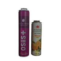 4 color printing empty aerosol spray can for refilling air freshener with valves