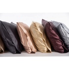 Cheersee organic pure solid black custom wholesale pillowcase satin 16 19 22mm 100% mulberry silk pillow case with zipper
