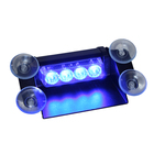 Graphic Customization [ 4w Led Car ] TIR 4W Blue LED Police Car Visor Deck Dash Warning Lights TBF-3868-1C4