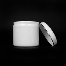 500g plastic round Cosmetic packing mask jar with plastic spoon