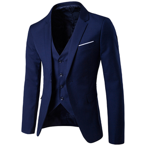 Fashion 9 Colors Formal Wear 3Piece (Blazer+Pants+Vest)Slim Fit Business Best Man Wedding Groom Blazer Suit