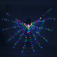 BestDance LED Angel Isis Wings Belly Dance LED Light Up Show Costumes Festival Isis Wings Prop