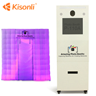Beauty Touch Screen Inflatable Photo Booth Machine Kiosk Background For Vending