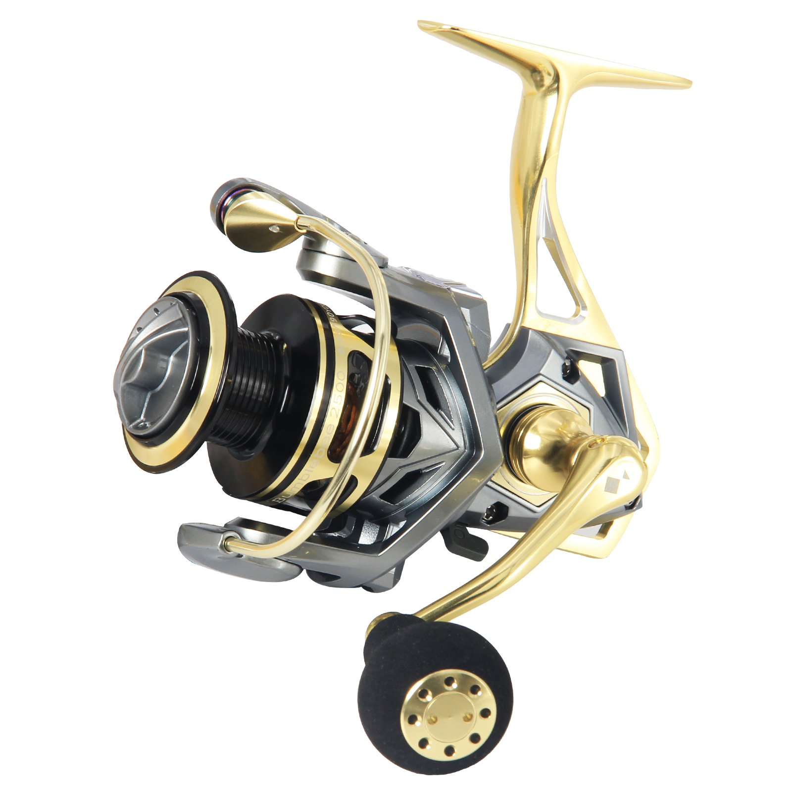 Angler Dream Size  Spinner Reels 5.2:1 Ratio Max Drag 20kg Full Metal Sea Fishing Reels Spinning, Gold