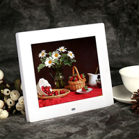 OEM 8 inch download free mp3 mp4 digital photo frame with high resolution lcd player for gift