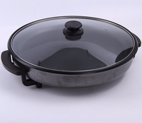 Hot Sale home kitchen round shape black cast iron skillet with helper non stick fry pan