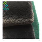 Black solif color 12mm pile 570gsm weight black faux fur fabric long pile