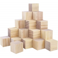 Natural Small Real Wooden Material Craft Cubes with Customized and Color