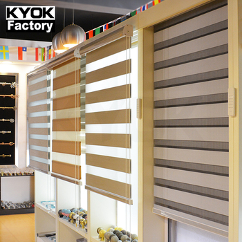 KYOK new jacquard patterned dual combi roller shades