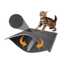 Amazon Hot koop 2-layer Anti Splash Kat Bed Kattenbakvulling Mat EVA Dubbele Laag Ontwerp Waterdicht Urine Proof trapper Mat