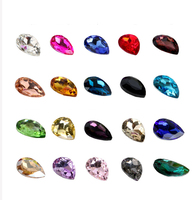 Teardrop Pointed Back Glass Crystal Rhinestones