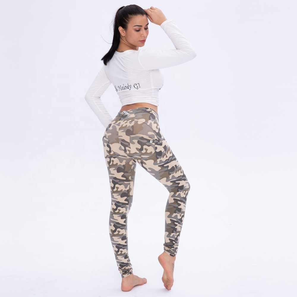 Melody MWSC Royal wolf armee hosen damen streetwear fitness yoga tragen push-up-leggings plus größe frauen hosen