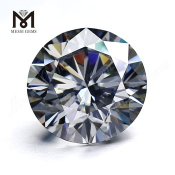 round grey colored 10mm low price gray synthetic moissanite diamond stone