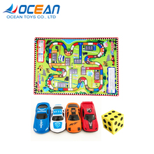 Educatief tapijt mat big size set play <span class=keywords><strong>ludo</strong></span> <span class=keywords><strong>spel</strong></span> met racing