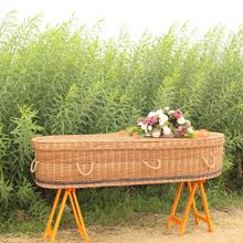 China Fabrik-versorgungsmaterial Custom Wicker <span class=keywords><strong>Sarg</strong></span> Erwachsene Beerdigung Willow <span class=keywords><strong>Sarg</strong></span>