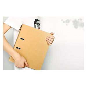 Hard paper A4 kraft paper lever arch file office products high quality folder