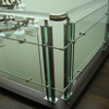 polished edge strengthen clear tempered 12mm glass for home railing