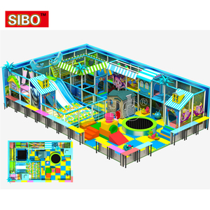 Customized new free design soft Children kids Playground Indoor With Climbing Frames Nets Big Slide
