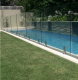 Laminated tempered glass fence panels for child safety pool fence