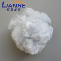 White Recycled Polyester Staple Fiber PSF, Cotton Fiber