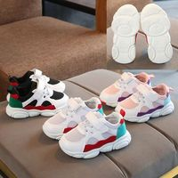 Hao Baby 2019 Spring And Autumn New Children's Sports Shoes Korean Baby Net Red Bear Shoes Boys And Girls Mesh Casual Shoes
