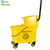 34L 46L Cleaning Trolley Double Bucket With Wringer Mop Wringer Wholesale