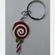 professional factory supply and custom lollipop logo zinc alloy metal keyrings/keychain/key chains