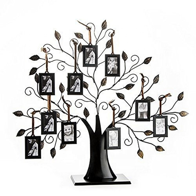 Metal Family Tree Collage Picture Frames Wall Hanging Multi Photo Frame